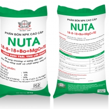 Phân bón NPK cao cấp  NUTA  18-8-18+Bo+MgO+TE